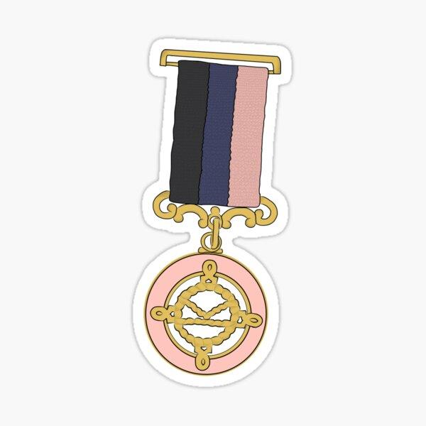 Kingsman medal - black  Sticker