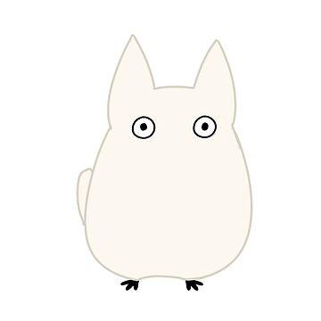 White Totoro by TimeladyAt221b