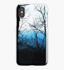 Black and Blue Forest iPhone Case/Skin