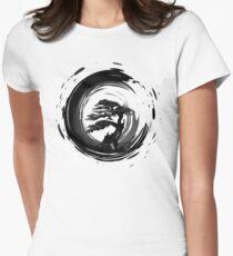 Bonsai Tree Zen Sumi-e Ink Circle T-Shirt