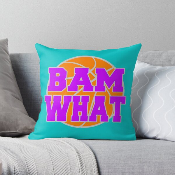 Bam What Basketball Throw Pillow