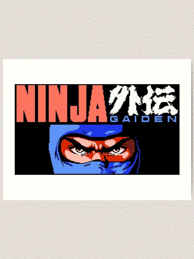 Ninja Gaiden Nes Art Print By Winscometjump Redbubble