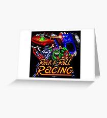 Rock n' Roll Racing (SNES Title Screen) Greeting Card