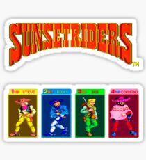 Sunset Riders Arcade Sticker
