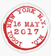 New York City Manhattan Chelsea Zip Code Clinton Postmark Postage Stamp Sticker