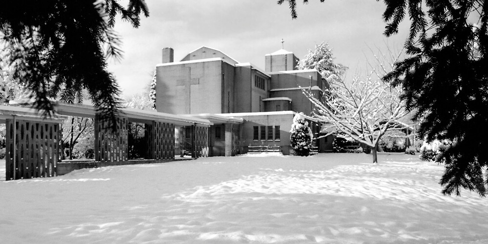 St. John's Shaughnessy, Vancouver in Snow by Priscilla Turner