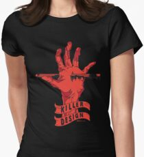 Killer Design - Red Fitted T-Shirt