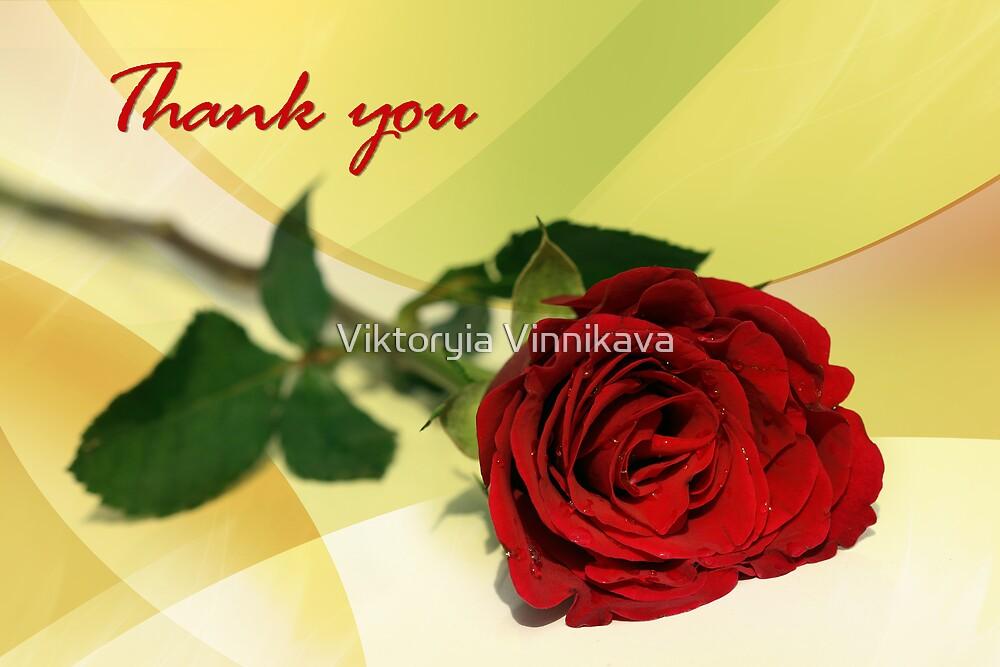 Thank you... by Viktoryia Vinnikava