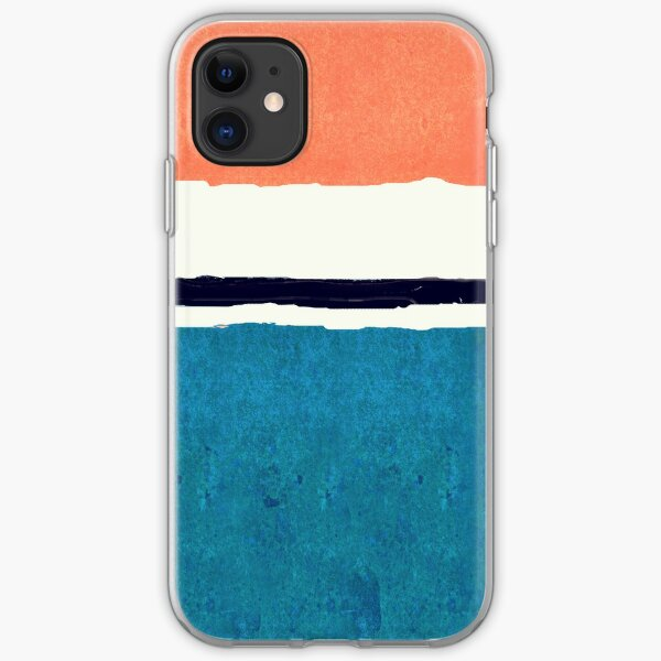 White Centered  iPhone Soft Case