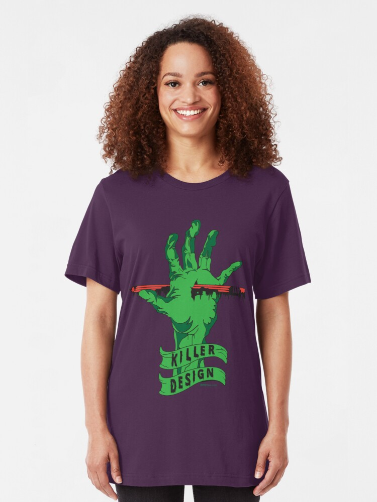 Alternate view of Killer Design - Green Slim Fit T-Shirt