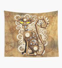 Steampunk-Katzen-Weinlese-Art Wandbehang