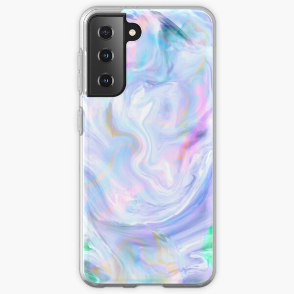 Copie couleur pastel holographique Coque souple Samsung Galaxy