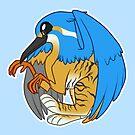Round Kingfisher Gryphon by Broeckchen