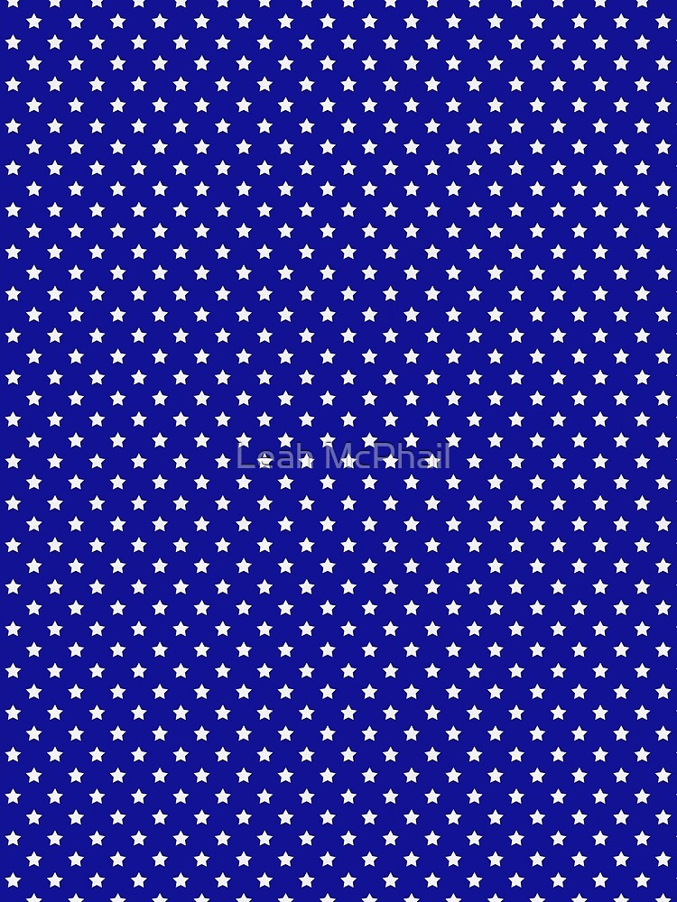 Blue and White Stars by LeahMcPhail