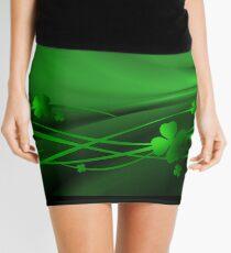 Good Luck Green Clover Mini Skirt