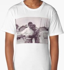 Young Barack and Michelle Obama Print Long T-Shirt