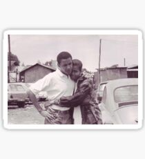Young Barack and Michelle Obama Print Sticker