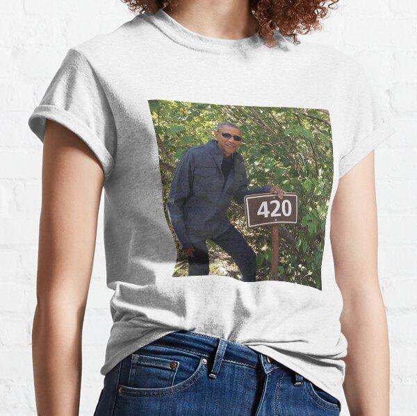 420 Obama Print Classic T-Shirt