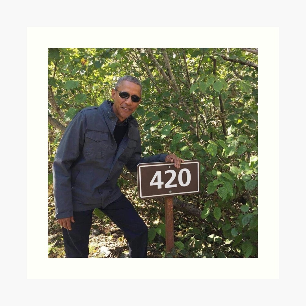 420 Obama Print Art Print