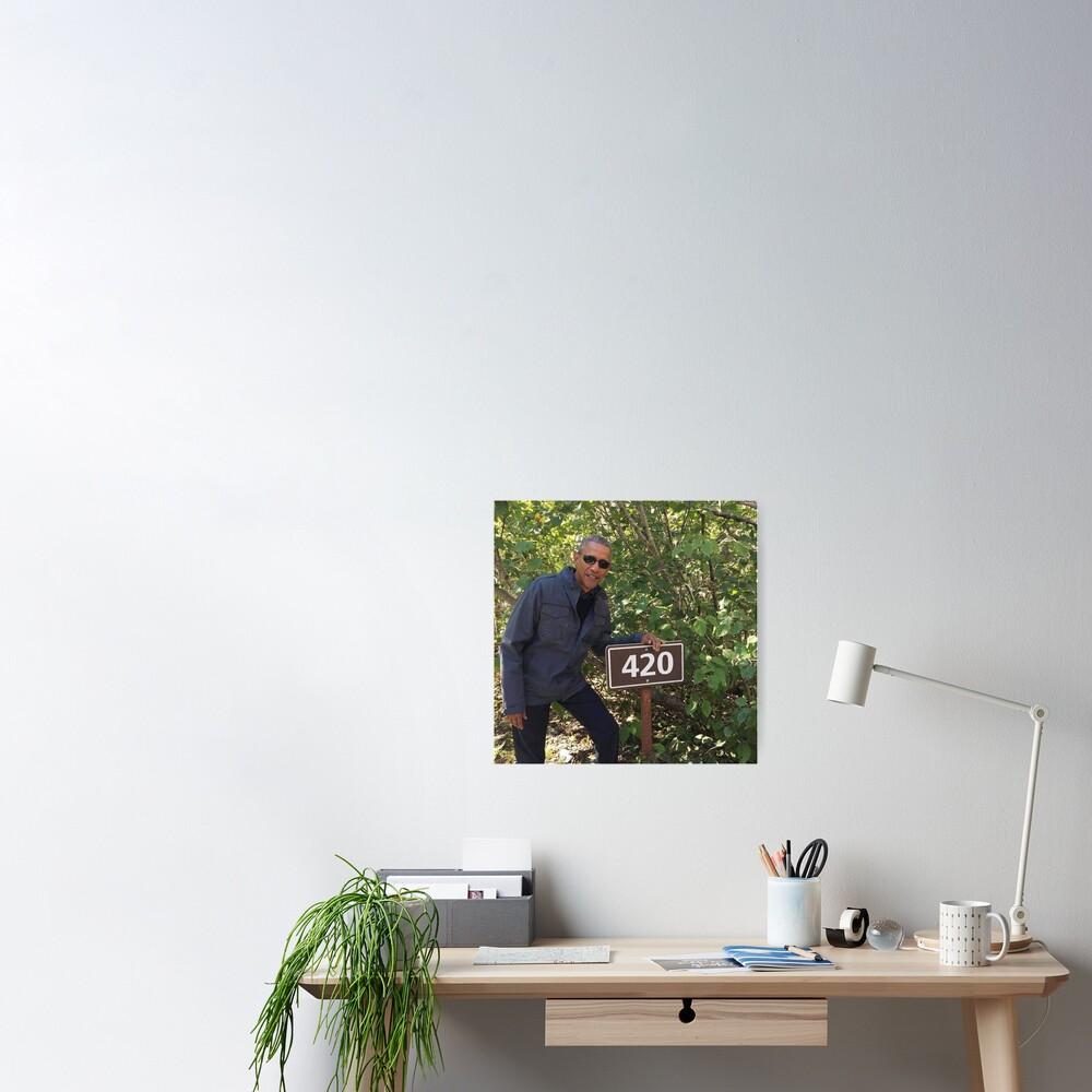 420 Obama Print Poster