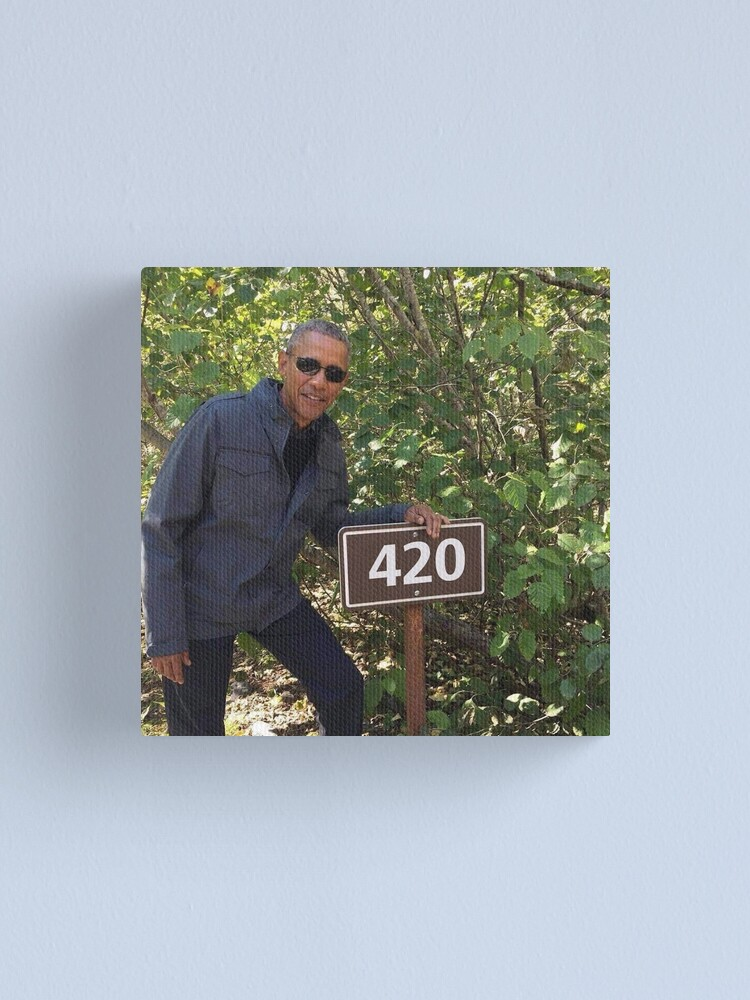 Alternate view of 420 Obama Print Canvas Print
