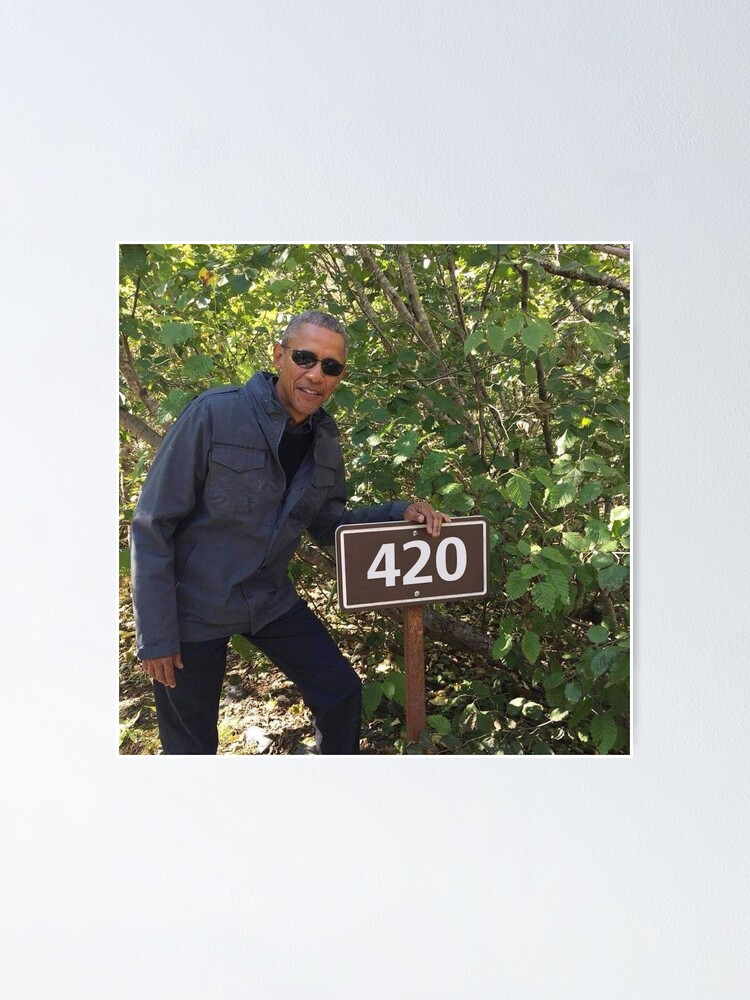 Alternate view of 420 Obama Print Poster