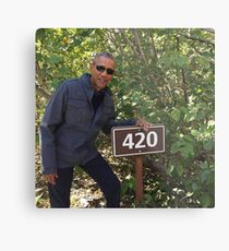 Lámina metálica 420 Obama Imprimir