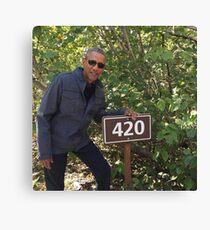 420 Obama Print Canvas Print