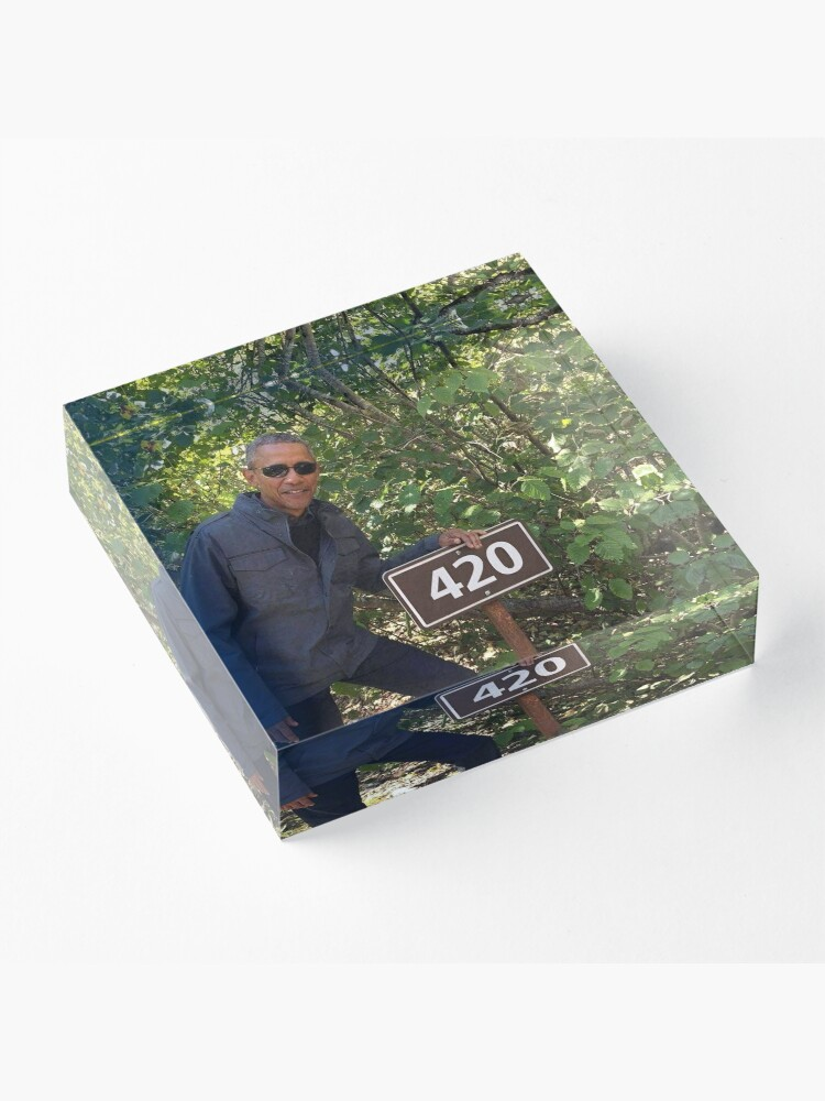 Alternate view of 420 Obama Print Acrylic Block