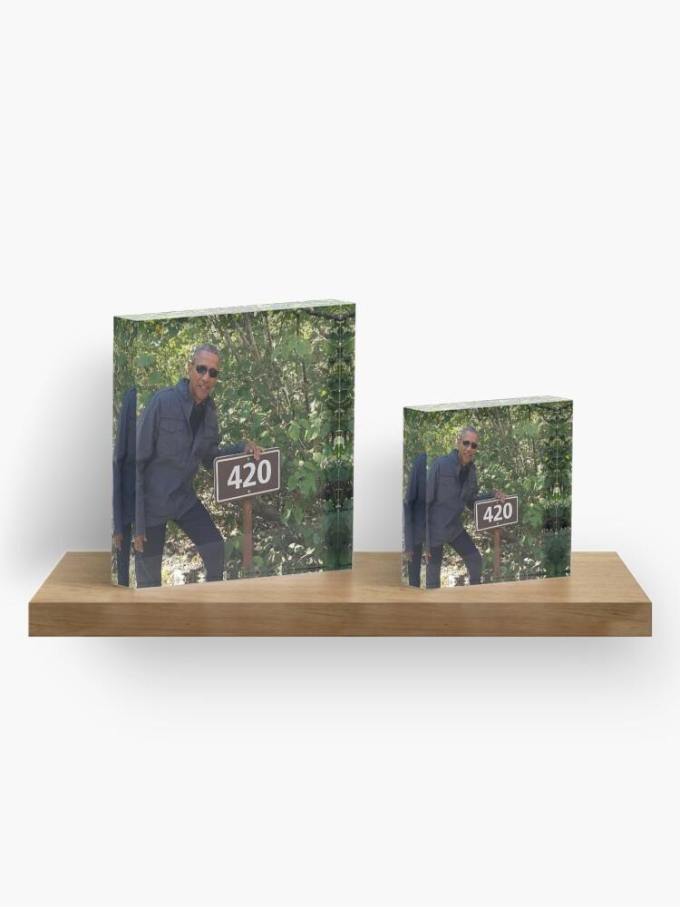 Alternate view of 420 Obama Print Acrylic Block