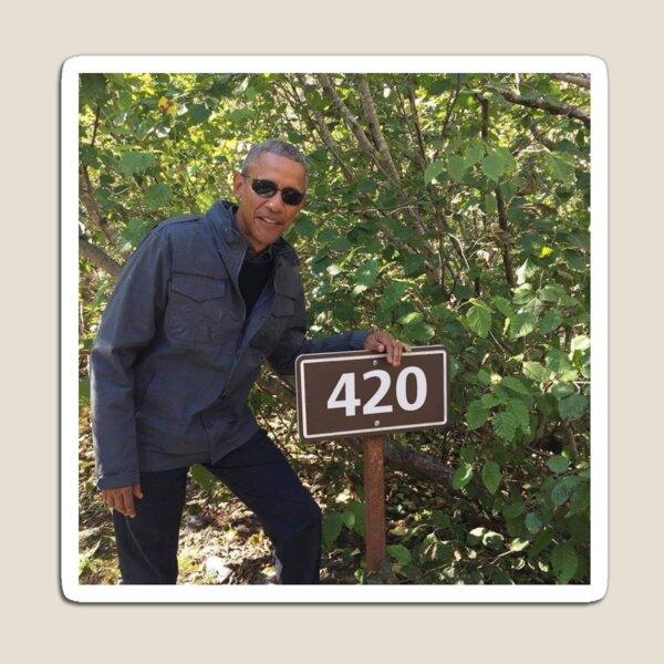 420 Obama Print Magnet
