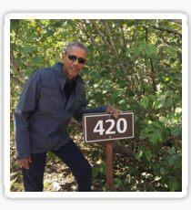 420 Obama Print Sticker