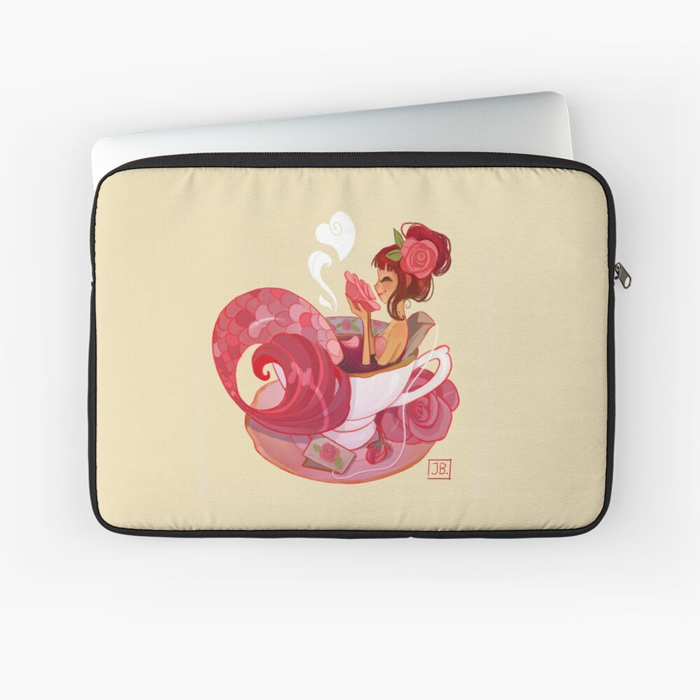 Tea Mermaid Laptop Sleeve Front