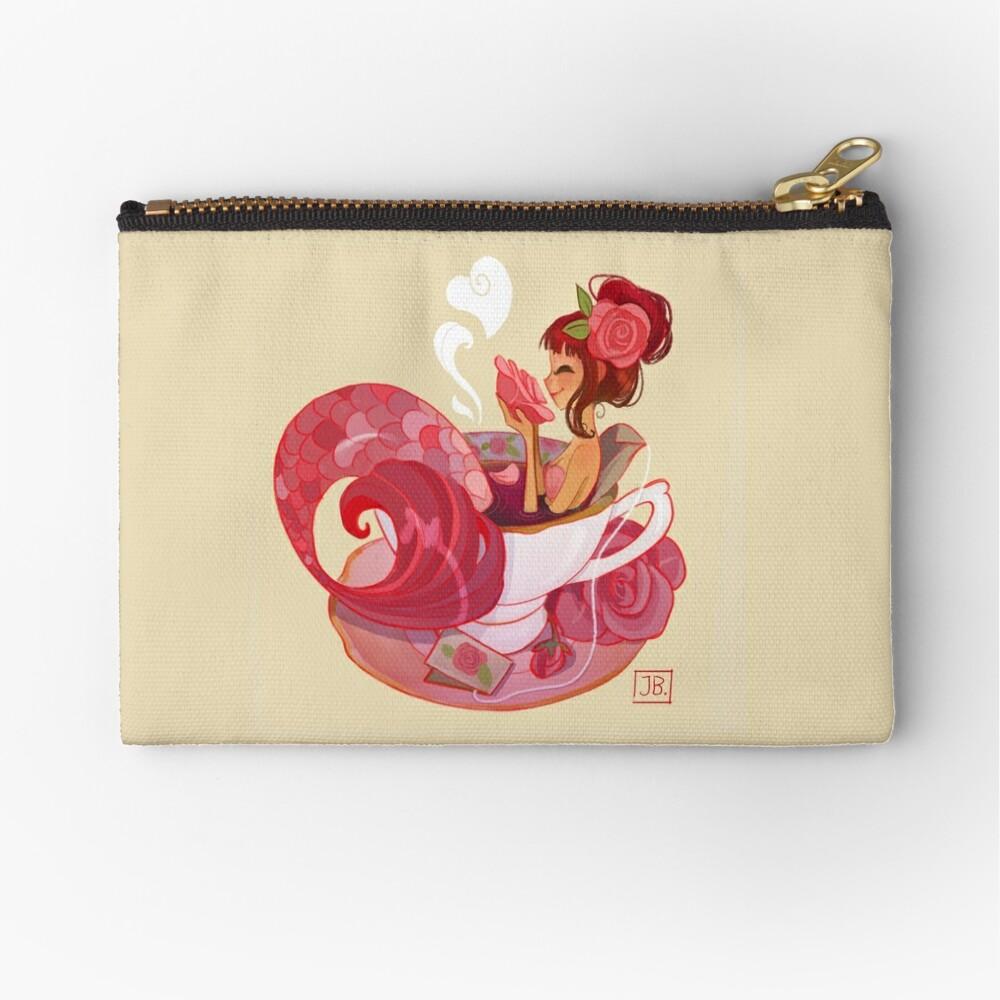 Tea Mermaid Zipper Pouch