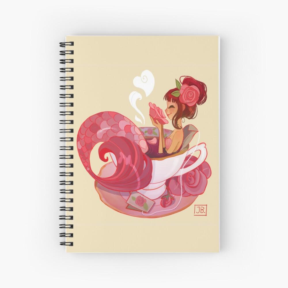 Tea Mermaid Spiral Notebook