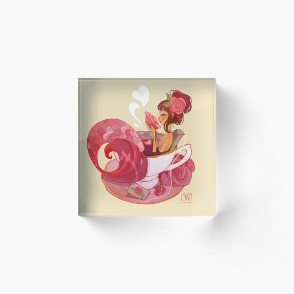 Tea Mermaid Acrylic Block