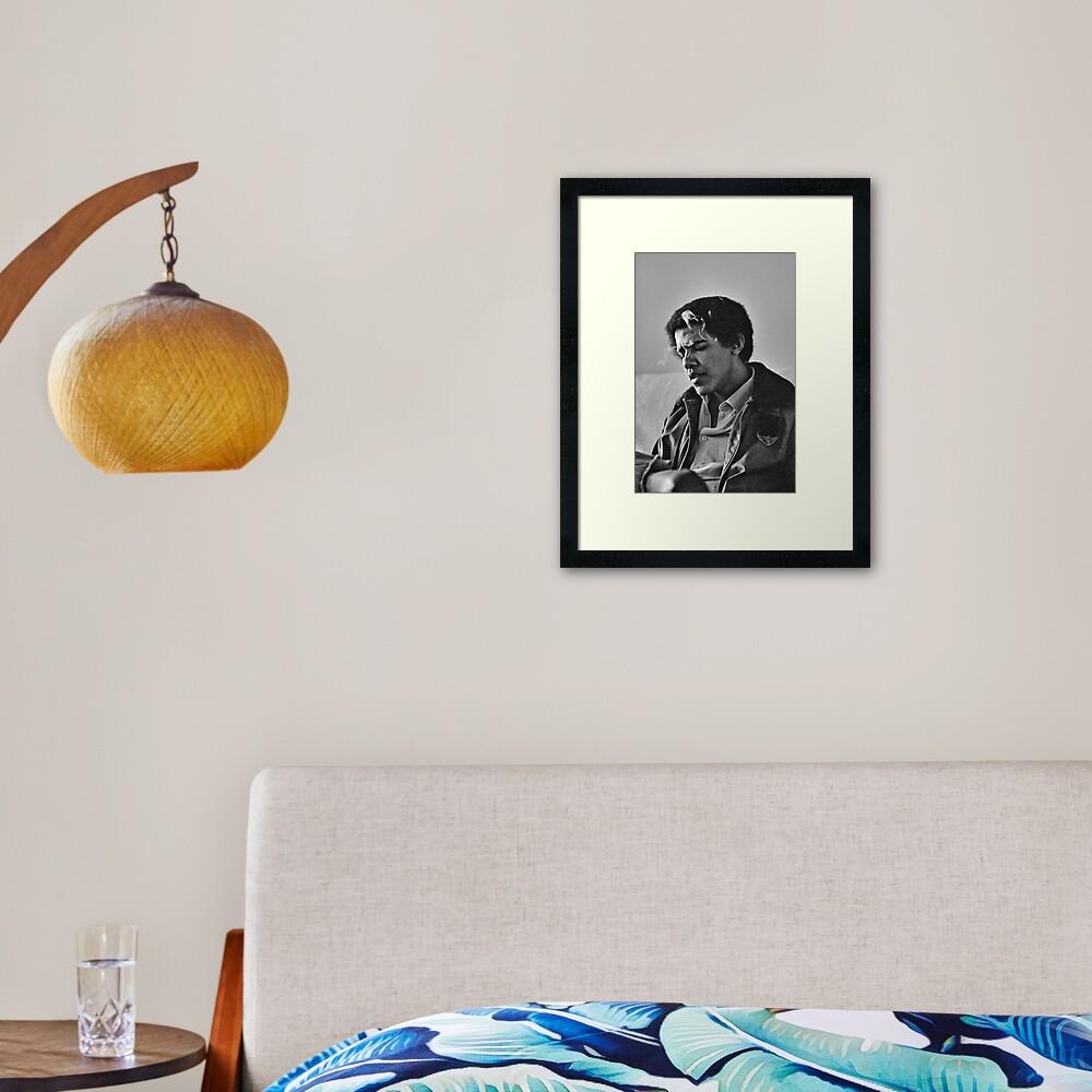Young Barack Obama - Smoking Print Framed Art Print
