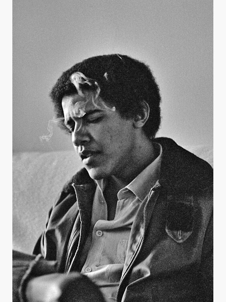 Young Barack Obama - Smoking Print by budgetnudest