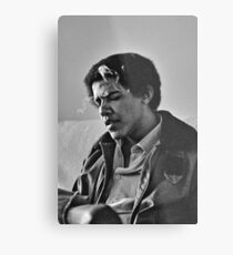 Young Barack Obama - Smoking Print Metal Print