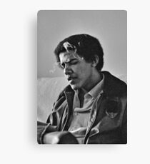 Young Barack Obama - Smoking Print Canvas Print