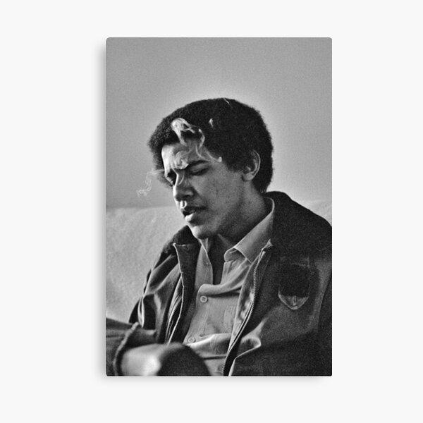 Young Barack Obama - Smoking Print Canvas Print
