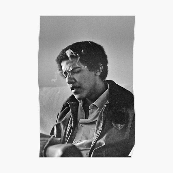 Young Barack Obama - Smoking Print Poster