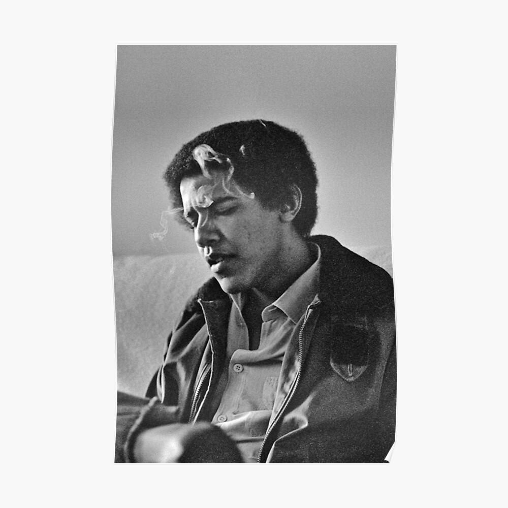 Young Barack Obama - Fumar Imprimir Póster