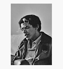 Young Barack Obama - Smoking Print Photographic Print