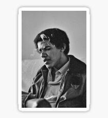 Junger Barack Obama - rauchender Druck Sticker