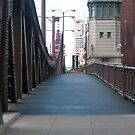 Walk Bridge Across the Chicago River by psphotogallery