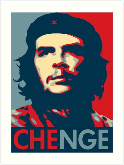 che guevara obama style pop art poster meme change art prints by