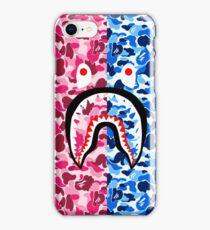 blue pink camo iPhone Case/Skin