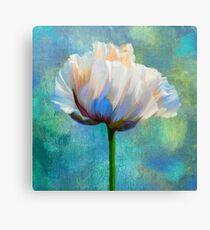 Plein Air Au Printemps poppy flower floral art Canvas Print