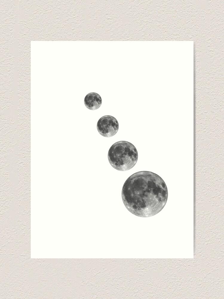 Alternate view of Full moon; Moon Art Print